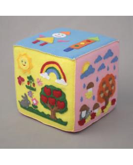 "Развивающий кубик-игра ""Времена Года"""