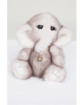 Слоник из натурального меха