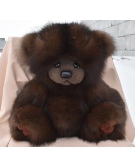 Большой Медведь из натурального меха песца