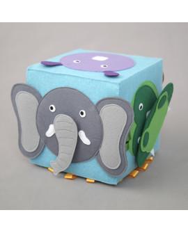 """Развивающий кубик-игра """"Чей нос? Дикие животные"""""""