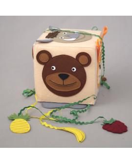 """Развивающий кубик-игра """"Кто что ест? Дикие животные"""""""